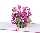 Цветы 3d открытка