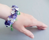 Цветы браслет Сиренька