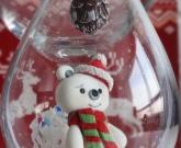 Игрушка на елку шар Мишка