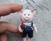 Игрушка на елку Свинка