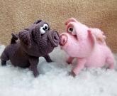 Игрушка Свинья мягкая
