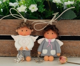 Куколки из глины Валентинки