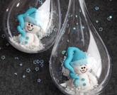 Новогодний шар Снеговик