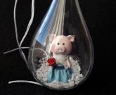 Новогодняя игрушка Шар Pig