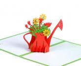 Открытка с 3d цветами