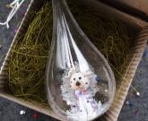 Прозрачный шар на елку Dog
