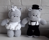 Свадебные игрушки Бегемоты