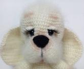 Вязанная игрушка Собака