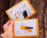 Хендмейд открытка Bird