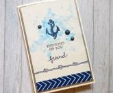 Хендмейд открытка Friend