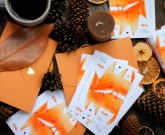Хендмейд открытка New Year