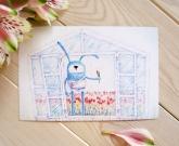 Женская открытка 8 Марта