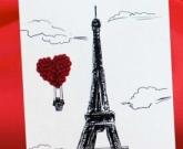 Женская открытка Paris