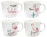 Чашки керамика Фламинго