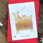 Новогодняя открытка Зима