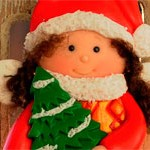 Куколка из глины New Year