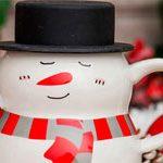 Мужская чашка Снеговик