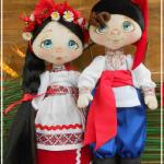 Народная украинская кукла — авторские обереги от сердца и с частичкой души