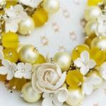 Браслет цветы Cream