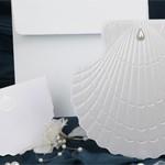 Свадебная открытка Ракушка