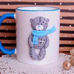 Большая чашка Мишка Teddy
