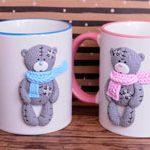 Чашки большие Мишки Teddy
