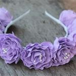 Ободок Сиреневые цветы