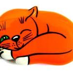 Брошь кошка Сонька