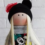 Кукла текстильная Микки