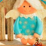 Кукла подвеска Снежинка