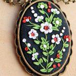 Кулончик филигрань Цветы