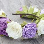 Обруч Пион и цветы