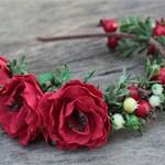 Ободок Цветы и шиповник