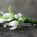 Заколка цветы Подснежники