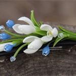 Заколка цветы Spring