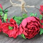 Венок для волос Red Flowers