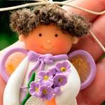 Куколка из глины Сиренька