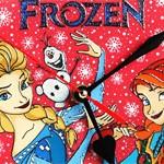 Часы витражные Frozen