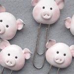 Скрепка Новогодняя Свинка