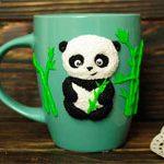 Чашка Панда глина
