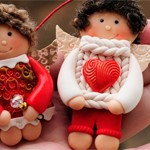 Куклы из глины LOVE