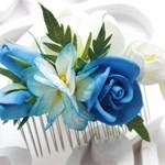 Гребень с цветами Blue