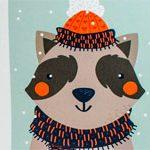 Новогодняя открытка Енот