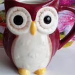 Чашка сова Бордо