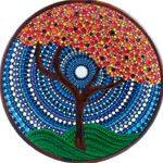 Керамическая тарелка Tree