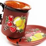 Чашка с блюдцем Фрукты