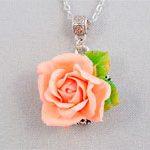 Кулон цветок Роза