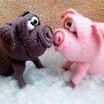 Игрушки свинья Парочка