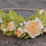 Венок для волос peach Roses