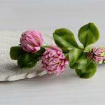 Заколка цветы Клевера